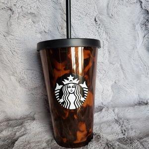 Starbucks 16 oz Tortoise Shell Tumbler Straw Lid